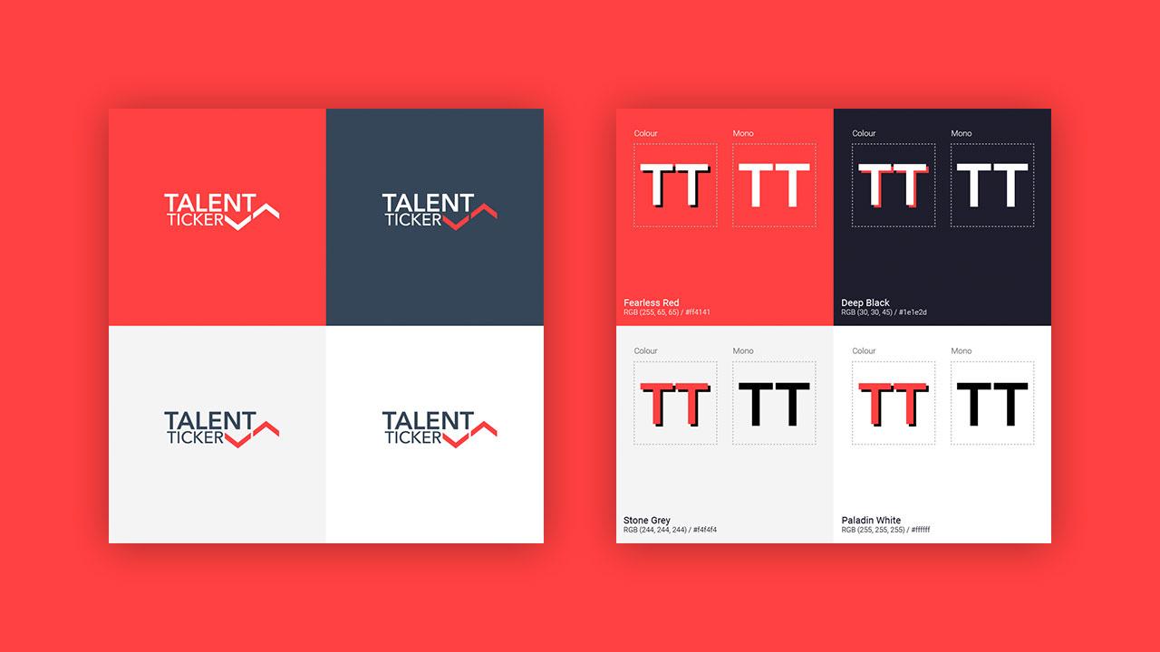 Talent Ticker Branding