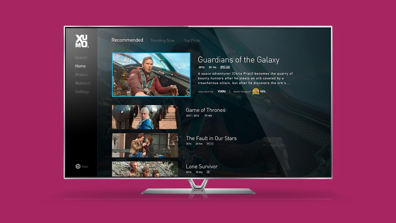 Xumo Guide on Panasonic TVs