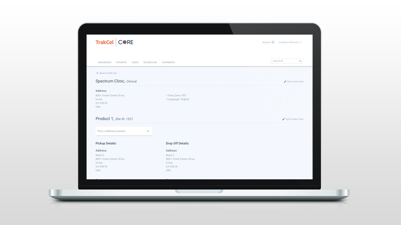 TrakCel Core Site